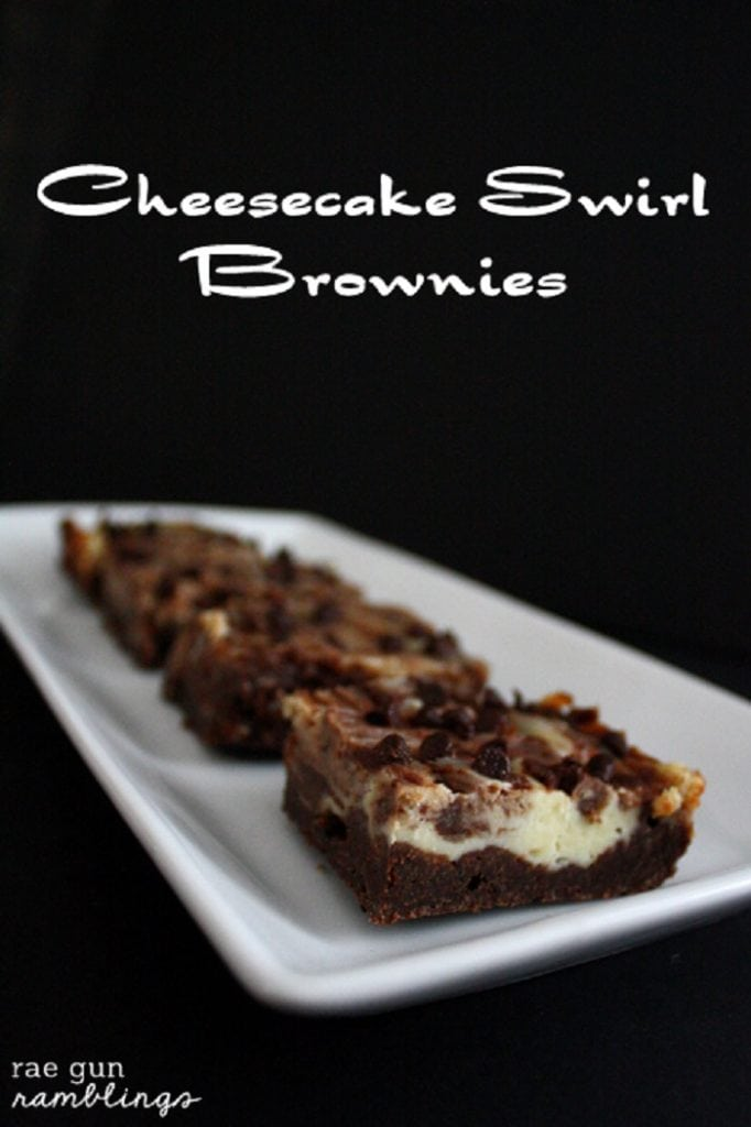 Cheesecake Swirl Brownies