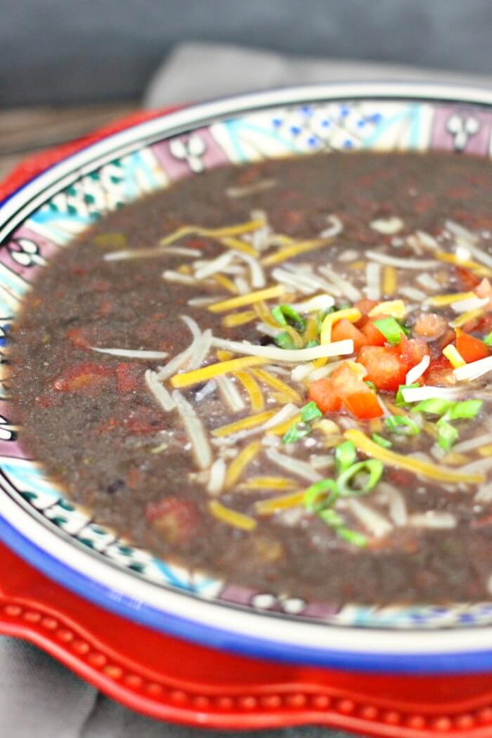 VEGAN BLACK BEAN SOUP