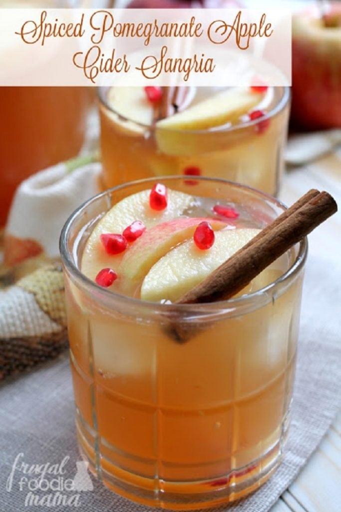 Spiced Pomegranate Apple Cider Sangria