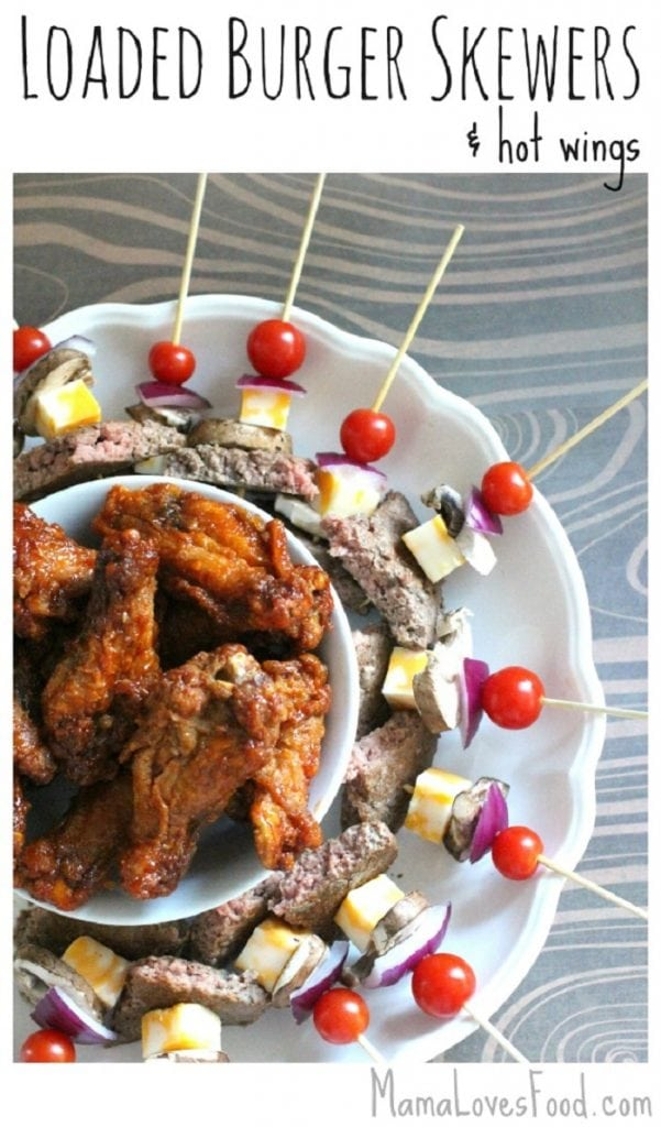 Loaded Burger Skewers