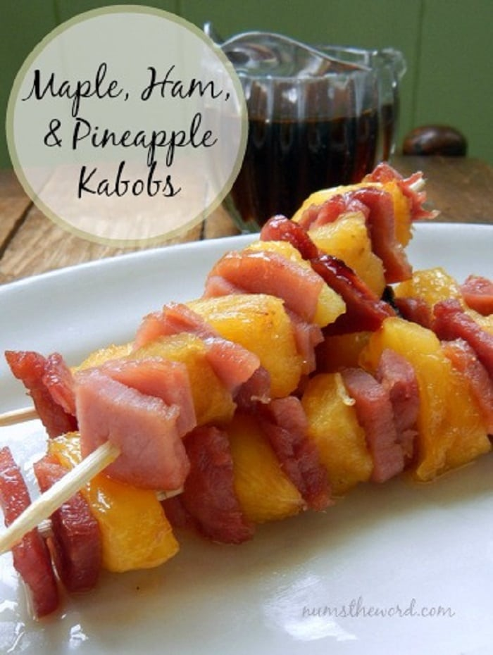 Maple, Ham & Pineapple Kabobs
