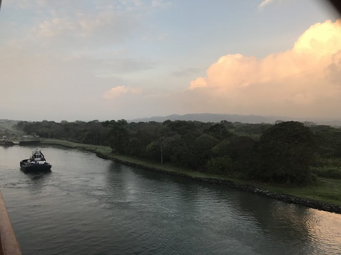 View of the Panama Canal From Balcony