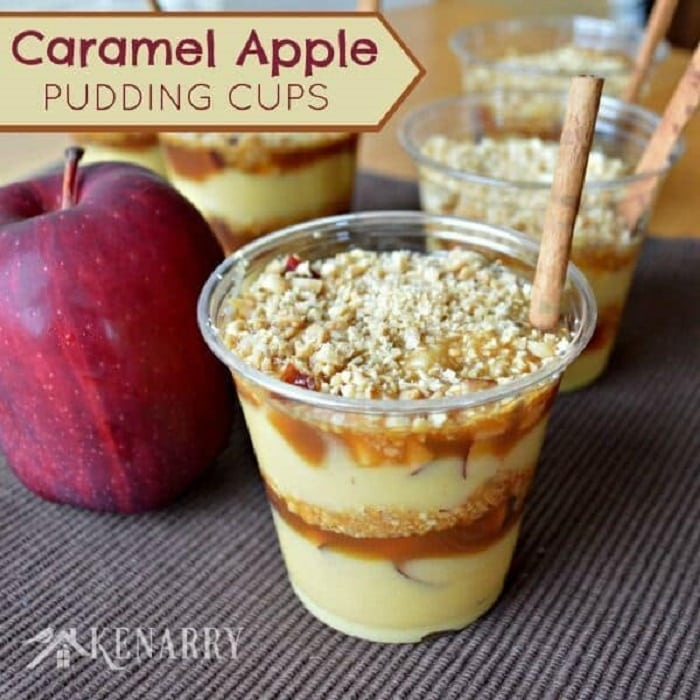 Caramel Apple Pudding Cups