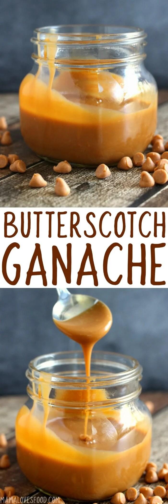 Easy Butterscotch Ganache