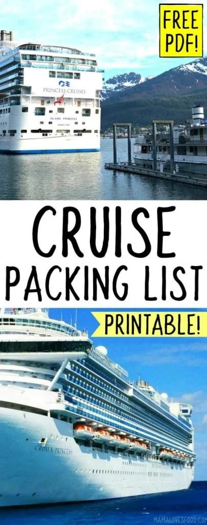 CRUISE PACKING LISTS