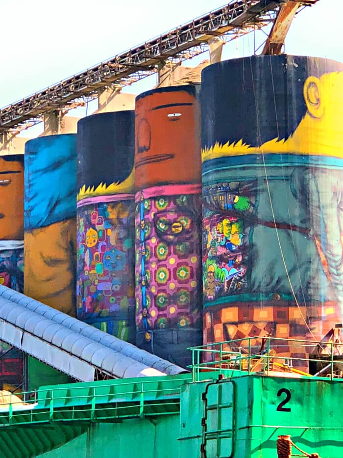 PAINTED SILOS IN VANCOUVER