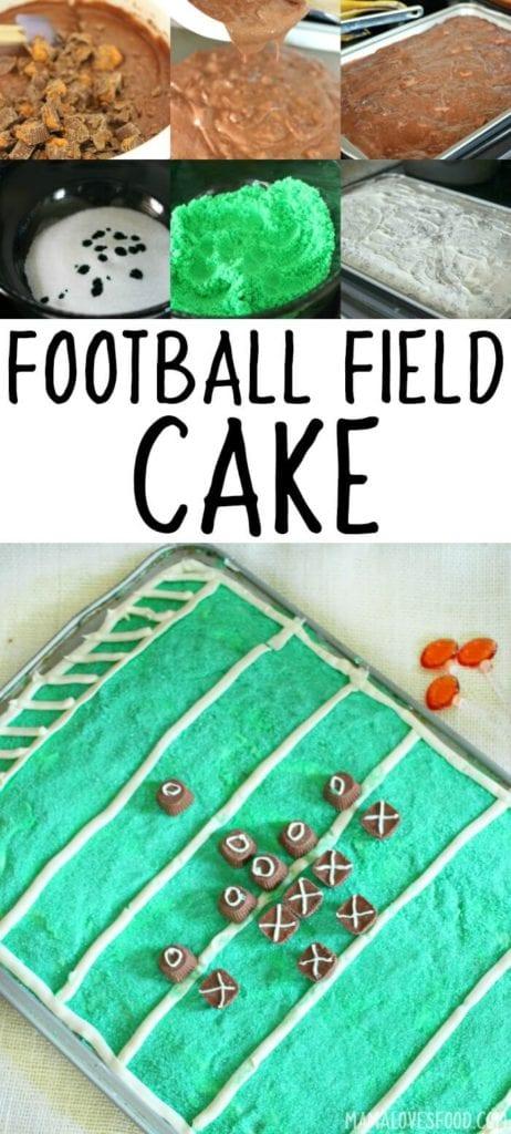 FOOT BALL FIELD CAKE