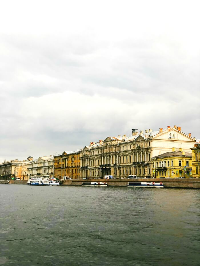 CANAL RIDE IN ST PETERSBURG RUSSIA