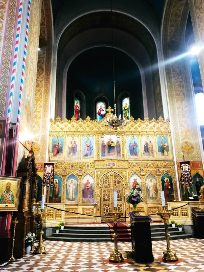 CHURCH INTERIOR TALLIN ESTONIA