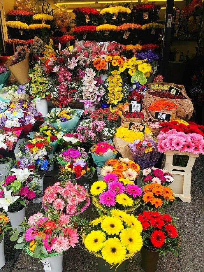 FLOWER MARKET IN TALLINN ESTONIA