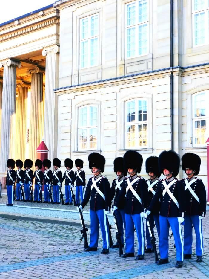 ROYAL GUARD IN COPENHAGEN