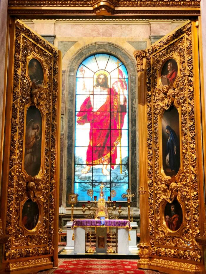 STAINED GLASS JESUS ST PETERSBURG RUSSIA