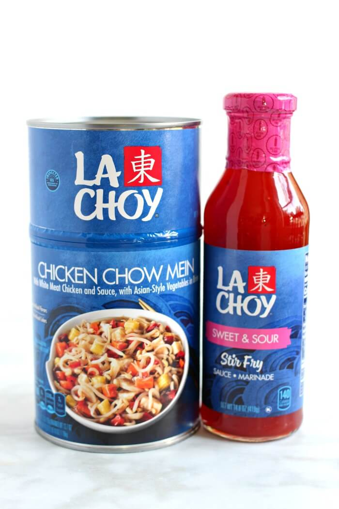 LA CHOY SWEET AND SOUR SAUCE AND CHOW MEIN