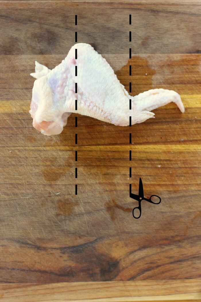 HOW TO CUT CHICKEN WINGS FOR BAKING