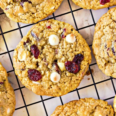 OATMEAL CRANBERRY WHITE CHOCOLATE CHIP COOKIES RECIPE