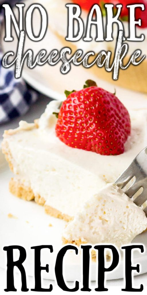 NO BAKE CHEESECAKE WITH COOL WHIP AND CREAM CHEESE