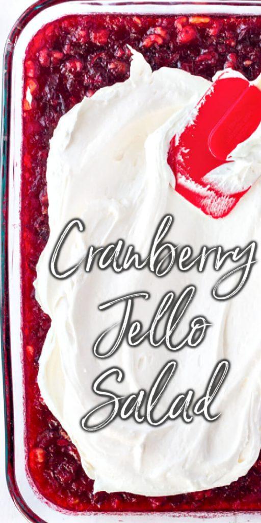 VINTAGE CRANBERRY JELLO SALAD RECIPE