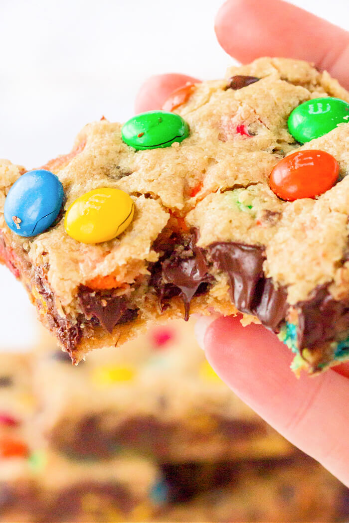 RECIPE FOR MONSTER COOKIE BARS