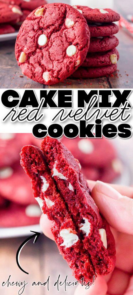 BEST RED VELVET CAKE MIX COOKIES