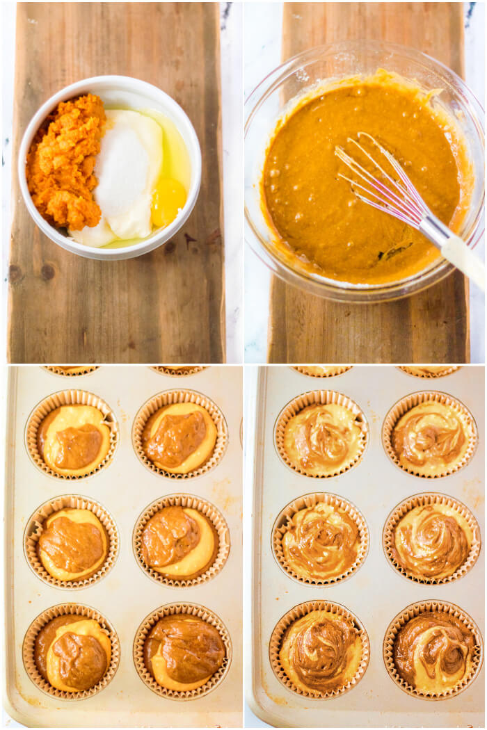HOW TO MAKE PUMPKIN CREAM CHEESE MUFFINS
