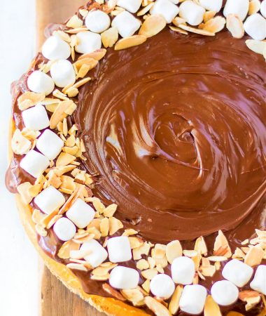 ROCKY ROAD BAKED CHEESECAKE