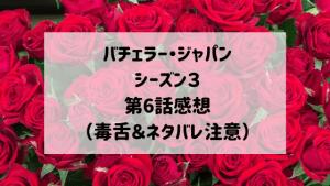 バチェラージャパンシーズン3 第6話感想(毒舌&ネタバレ注意)