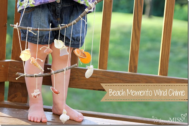 Kiddos Crafts Beach Memento Wind Chime Mama Miss
