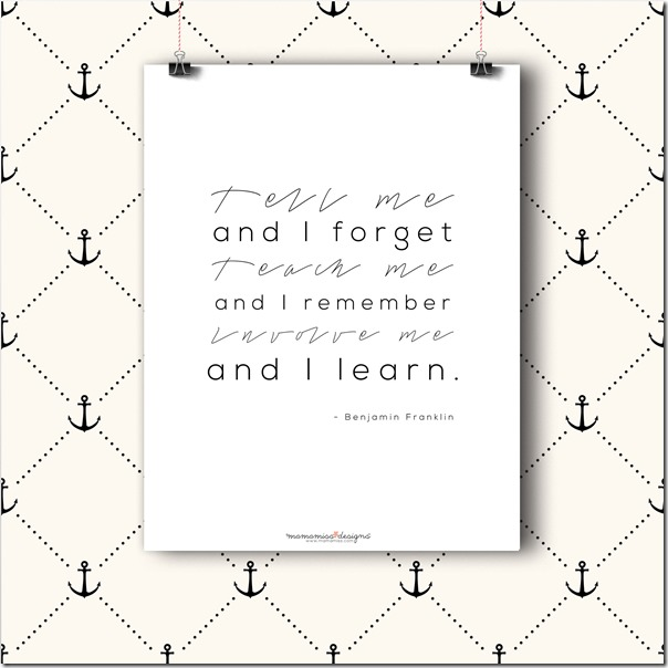 Benjamin Franklin quote | @mamamissblog #education #STEM #freeprintable #quotelove