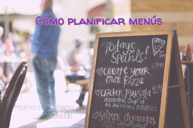 5 pasos para planificar menús