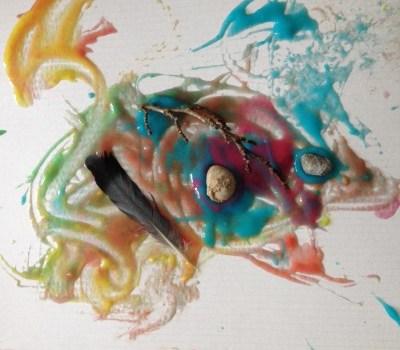 peinture pâte à colle