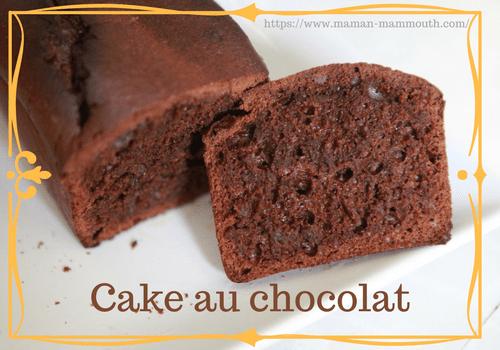 Recette de cake au chocolat sans lactose