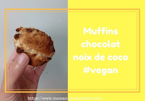 Muffins chocolat noix de coco vegan