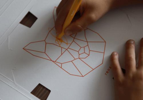 """Kit créatif """"Mes cadres animaux origami à colorier"""" de Pirouette Cacahouète"""