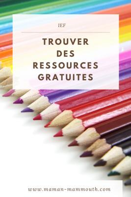 IEF : Trouver des ressources gratuites