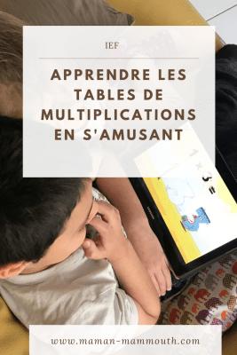 Application éducative pour apprendre les tables de multiplications