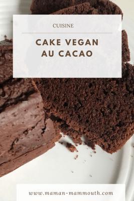 Cake vegan au cacao