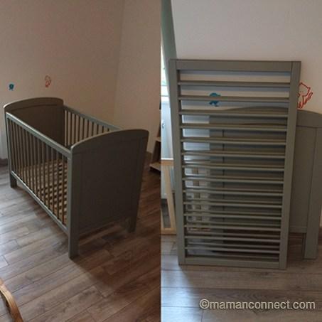 Petit lit en bois à barreaau