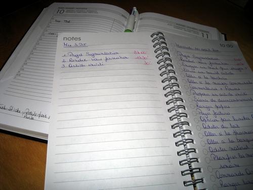 Agenda et liste de tâches