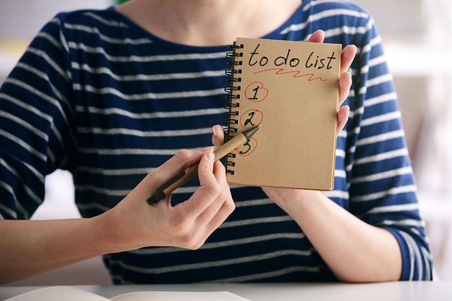 Conseil 3 : la to do list