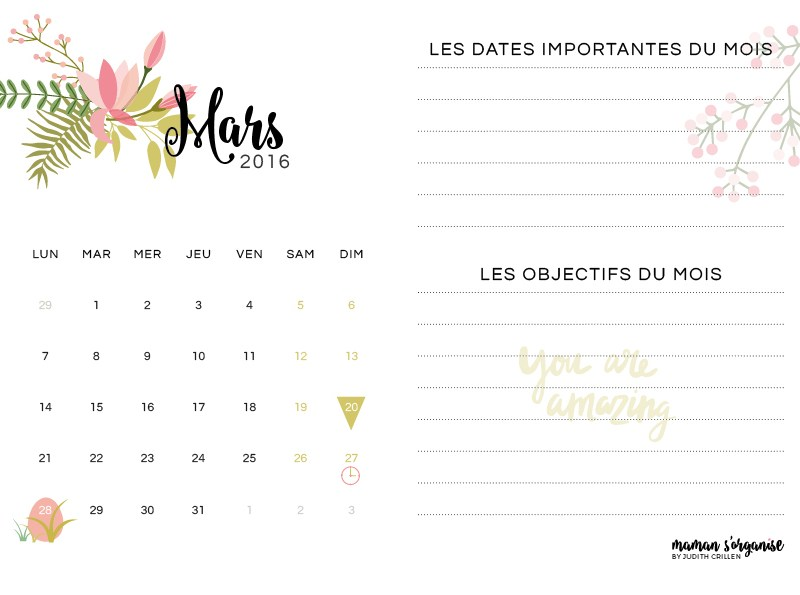 Cliquez ici pour télécharger le calendrier de mars 2016