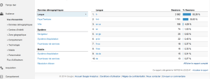 Page accueil Google Analytics