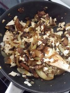 poêlée tofu champignons