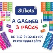 Identifier les affaires de vos enfants avec les étiquettes personnalisées Stikets (+ concours)