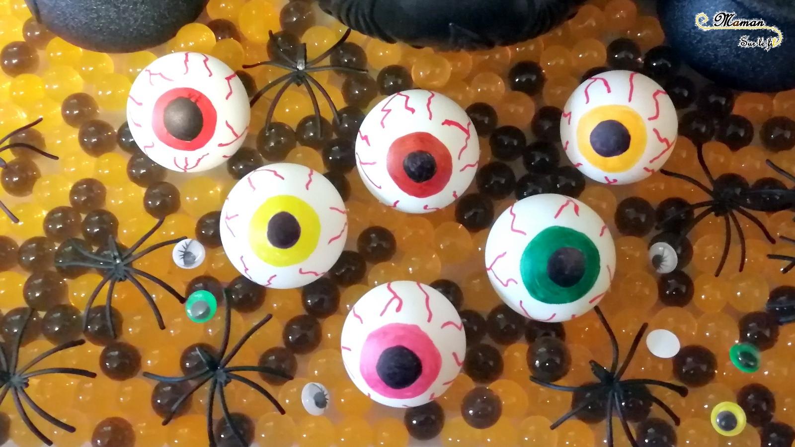 Des Yeux Globuleux Faits Maison Pour Halloween Activite Maman Sur Le Fil