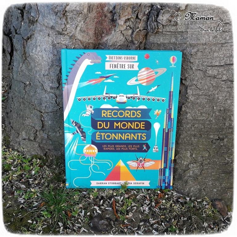Test et avis livre enfants - Fenêtre sur records du monde étonnants Usborne - Livre à rabats - fenêtres - littérature enfant - mslf