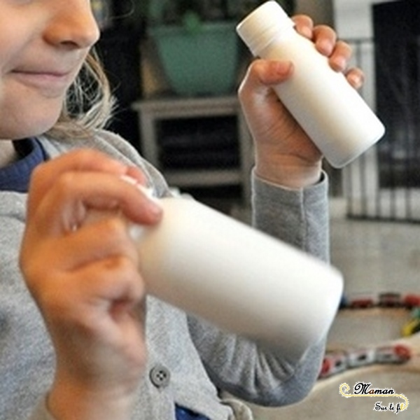 Fabriquer un mémory sonore DIY en récup - avec des bouteilles de yaourt à boire - Jeu fait maison - Jeu autour des 5 sens - Ouïe - correspondance son - Activité sensorielle enfants - atelier maternelle - mslf