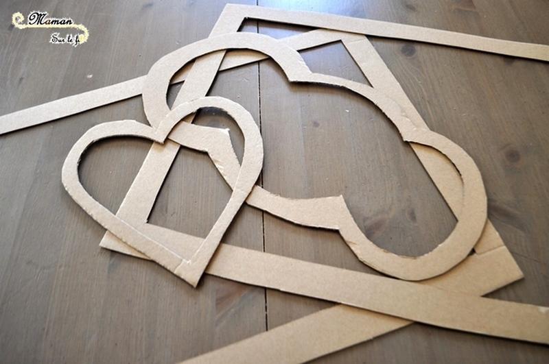 Activité enfant - Attrape-soleil avec des feuilles mortes - Automne - Cadre Nuage, coeur , en carton - Récup - créative et manuelle - collage - Arts visuels maternelle - Décoration de fenêtre - mslf