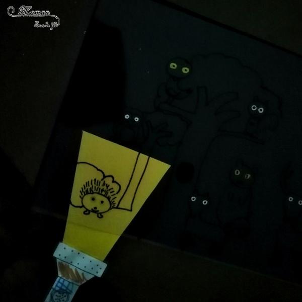 Activité enfants - Fabriquer une lampe magique pour chercher les animaux dans la forêt - Yeux visibles - Cherche et trouve - dessin rigolo - Magie - Lumière - Bricolage DIY - Jeu - Mslf