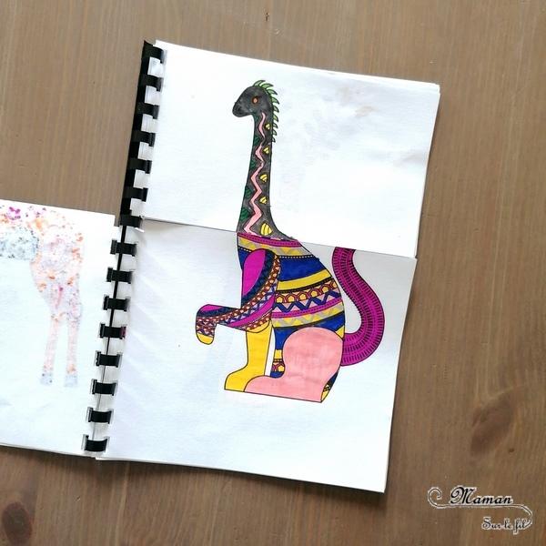 Activité créative enfants - Créer un cahier ou carnet à manipuler pour mélanger et créer des alebrijes - Animaux imaginaires mexicains colorés - Méli-Mélo - Coloriage graphique et type mandala, découpage et manipulation - A partir de coloriage d'alebrijes on en invente et créé d'autres - Découverte de l'art du Mexique - Créativité - Amérique du Sud et Mexique - Découverte d'un pays - Espace et géographie - arts visuels et atelier maternelle et Cycles 1, 2 et 3 - Eté - mslf
