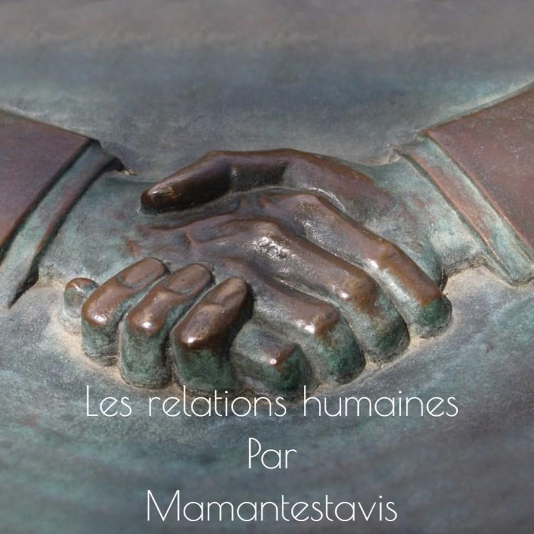 Les relations humaines et l'individualisme